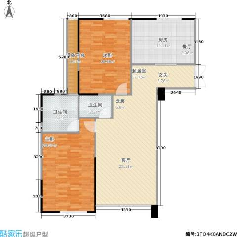 五里河城2室0厅2卫1厨138.00㎡户型图