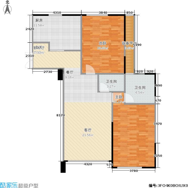 五里河城户型2室1厅2卫1厨