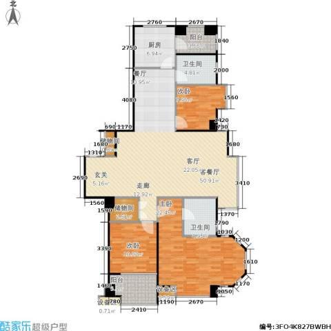 采菊东篱3室1厅2卫1厨130.00㎡户型图