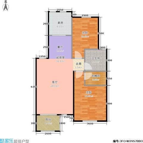 阳光洛可可2室0厅1卫1厨75.74㎡户型图