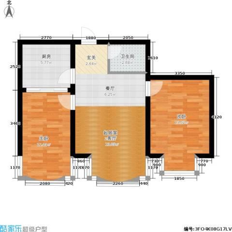 世众宏厦家园2室0厅1卫1厨84.00㎡户型图