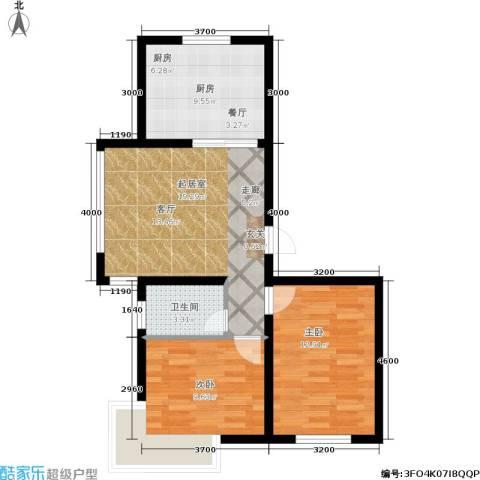金鼎阳光苑2室0厅1卫1厨87.00㎡户型图