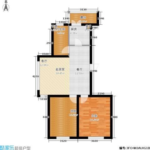 罗曼・松鼠湾2室0厅1卫1厨88.00㎡户型图