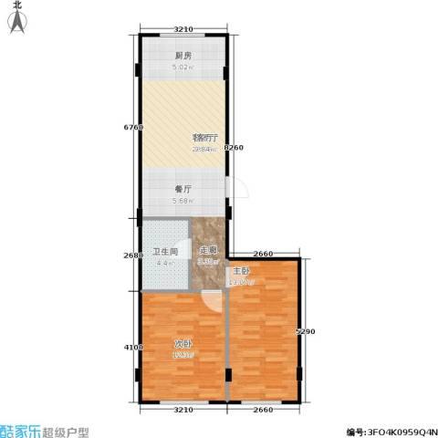 金华新村2室1厅1卫0厨70.00㎡户型图