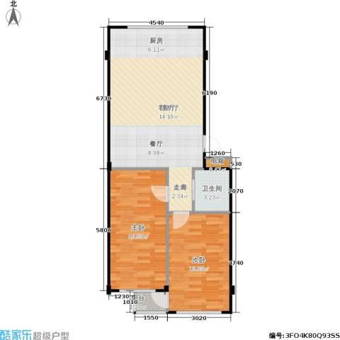 金华新村2室1厅1卫0厨82.00㎡户型图
