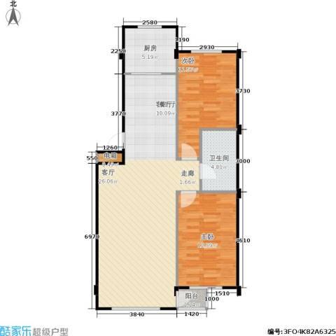 金华新村2室1厅1卫1厨92.00㎡户型图
