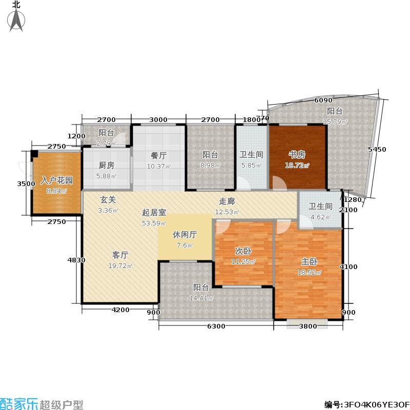 圆梦・完美生活户型3室2卫1厨