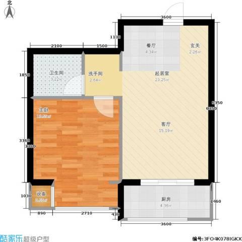 瀚博西耶纳1室0厅1卫1厨55.00㎡户型图