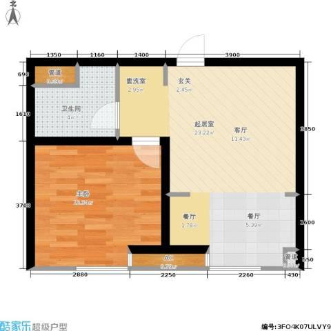 大通一番街1室0厅1卫0厨59.00㎡户型图