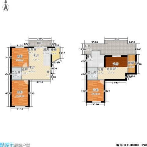 瀚博西耶纳3室1厅2卫0厨116.07㎡户型图