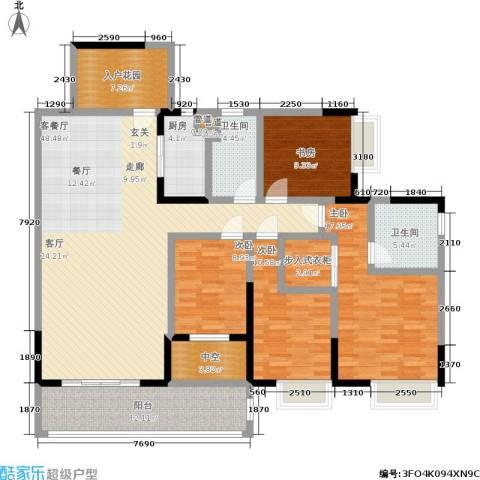 恒创恒福花园4室1厅2卫1厨159.00㎡户型图