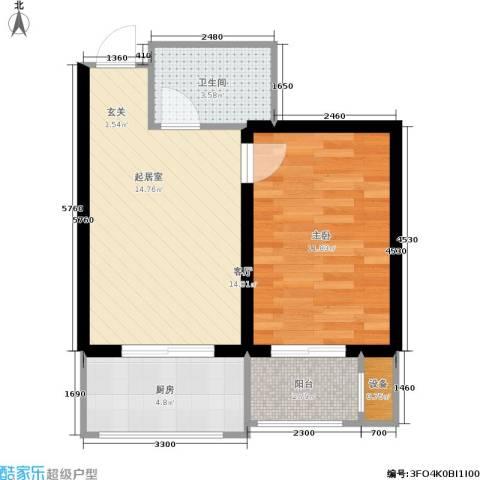 瀚博西耶纳1室0厅1卫1厨40.00㎡户型图