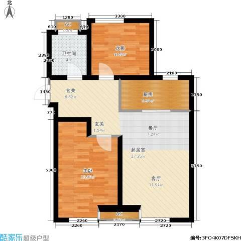 大通一番街2室0厅1卫1厨87.00㎡户型图