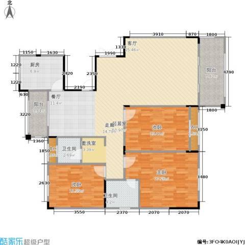 长房星城世家 长房3室0厅2卫1厨131.00㎡户型图