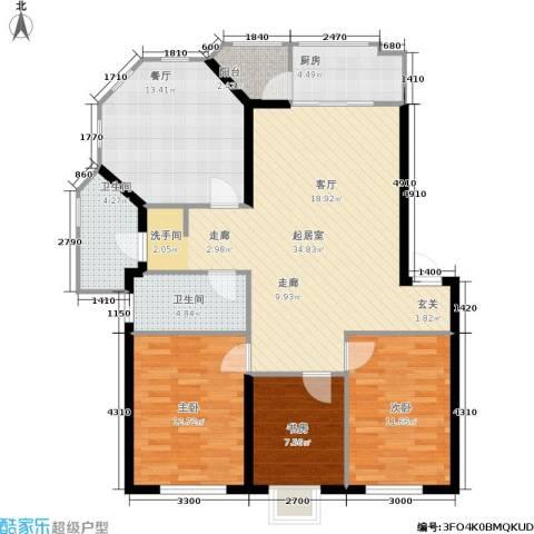 瀚博西耶纳3室1厅2卫1厨103.00㎡户型图
