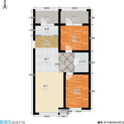 金沙水木城典2室1厅1卫1厨99.00㎡户型图