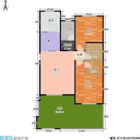 阳光洛可可2室0厅1卫1厨139.00㎡户型图