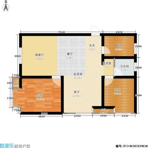 大通一番街2室0厅1卫1厨97.00㎡户型图