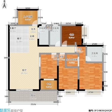 恒创恒福花园4室1厅3卫0厨158.00㎡户型图