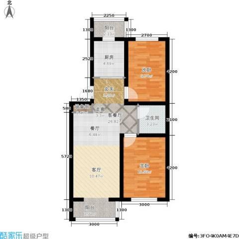 金沙水木城典2室1厅1卫1厨84.00㎡户型图