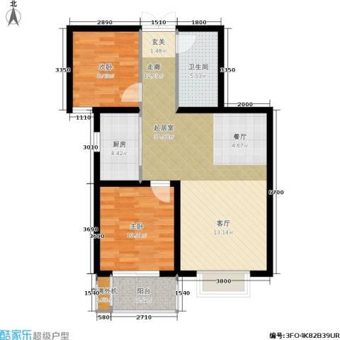 东湖湾2室0厅1卫1厨90.00㎡户型图