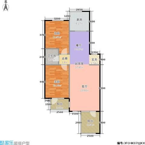 亚瑟蓝湾2室0厅1卫1厨111.00㎡户型图