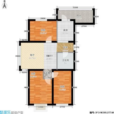 金沙水木城典3室1厅1卫1厨108.00㎡户型图