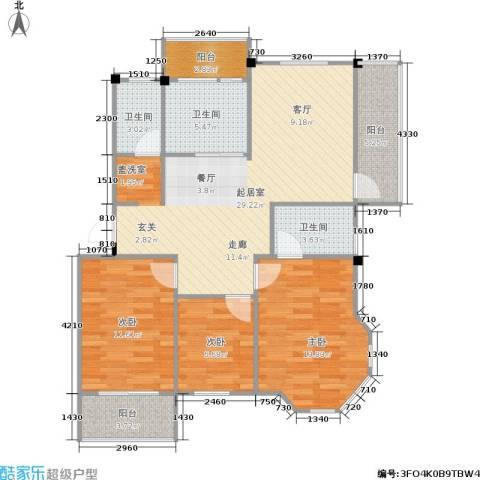 龙海-新加坡花园城3室0厅3卫0厨91.00㎡户型图