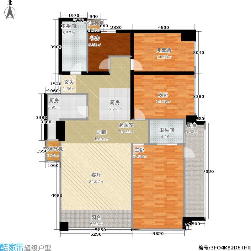 银联中央融都公寓170.00㎡户型