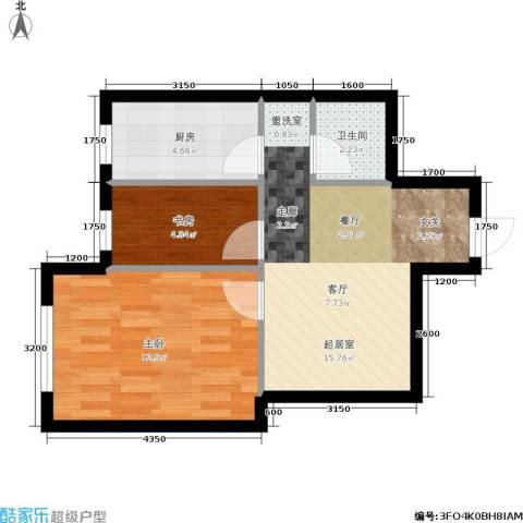 千缘爱在城2室0厅1卫1厨54.00㎡户型图