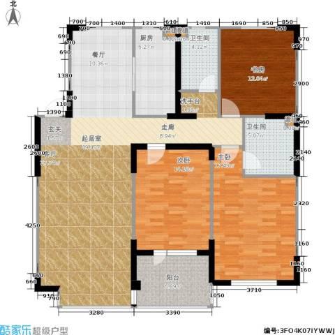 佰世雅阁3室0厅2卫1厨159.00㎡户型图