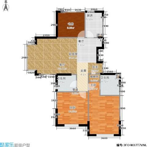 佰世雅阁3室0厅2卫1厨121.00㎡户型图