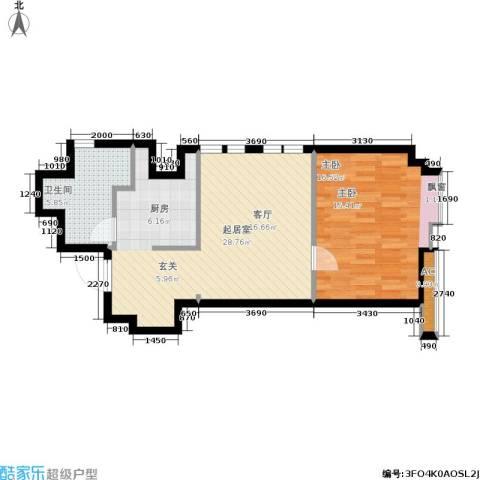 杰特公寓1室0厅1卫0厨52.06㎡户型图