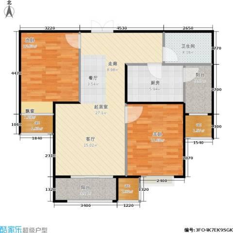山海听涛2室0厅1卫1厨100.00㎡户型图