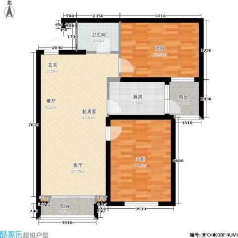 雪松新城2室0厅1卫1厨79.00㎡户型图