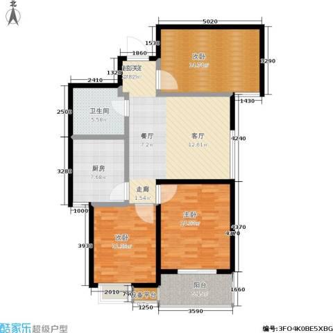 绿城都市花园3室0厅1卫1厨118.00㎡户型图