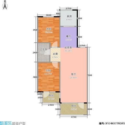 亚瑟蓝湾2室0厅1卫1厨99.00㎡户型图