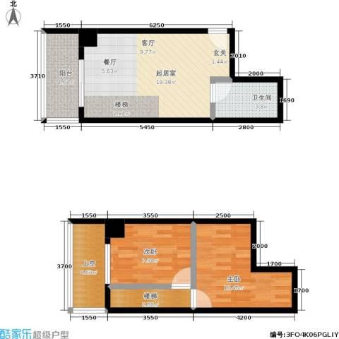 银河国际住宅2室0厅1卫0厨79.00㎡户型图