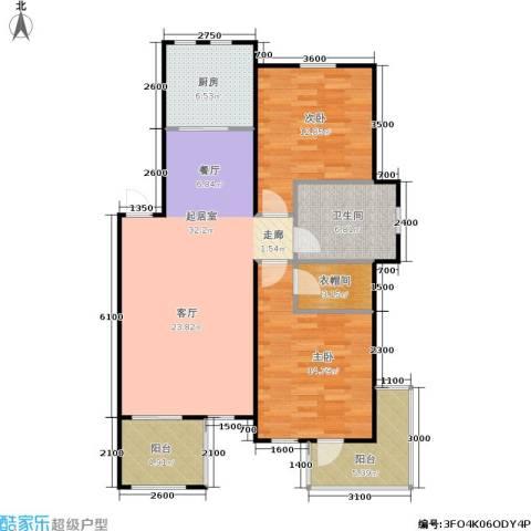 阳光洛可可2室0厅1卫1厨117.00㎡户型图