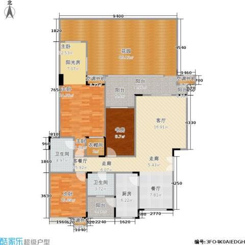 福江・名城 名城3室1厅2卫1厨145.75㎡户型图