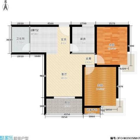 绿城都市花园2室0厅1卫1厨114.00㎡户型图