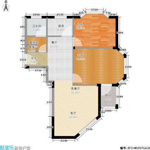 聚贤雅苑2室1厅1卫1厨82.00㎡户型图