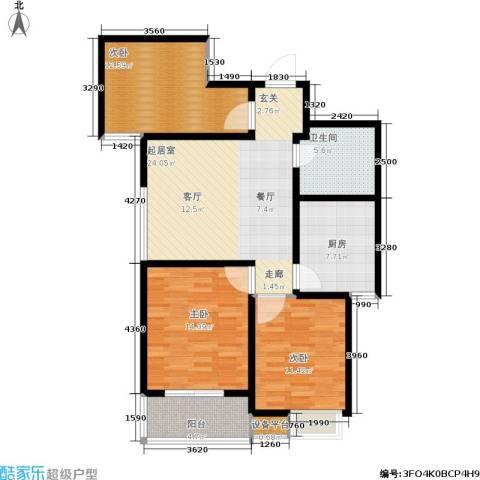 绿城都市花园3室0厅1卫1厨115.00㎡户型图