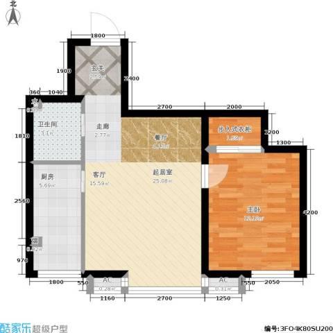 博客地带1室0厅1卫1厨70.00㎡户型图