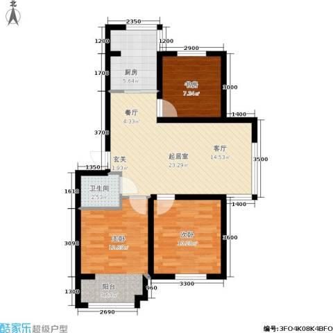 汉生经典家园3室0厅1卫1厨87.00㎡户型图