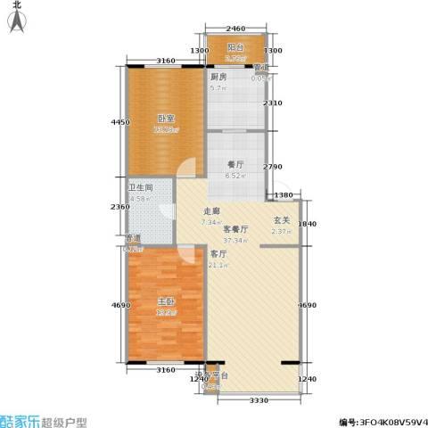 君悦美景1室1厅1卫1厨92.00㎡户型图