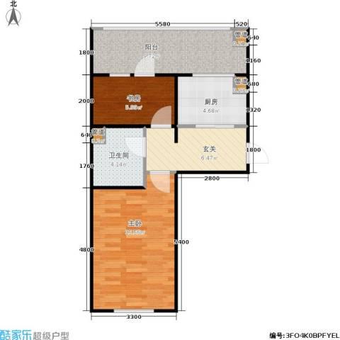 恒运雅居2室0厅1卫1厨49.00㎡户型图