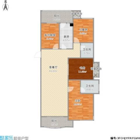 保利东湾国际3室1厅2卫1厨162.00㎡户型图