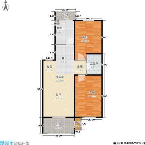 恒运雅居2室0厅1卫1厨87.00㎡户型图
