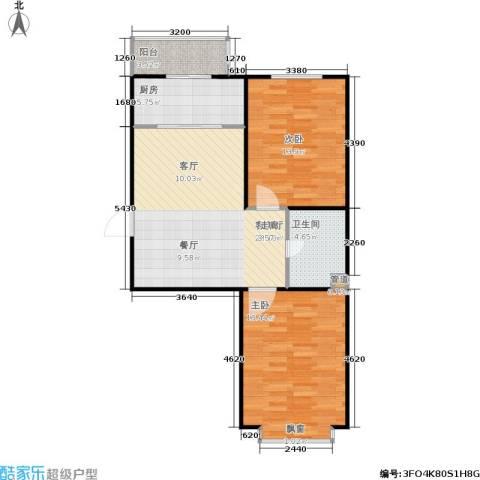 君悦美景2室1厅1卫1厨71.00㎡户型图